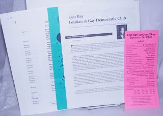 East Bay Lesbian & Gay Democratic Club materials from 1997 & 1998