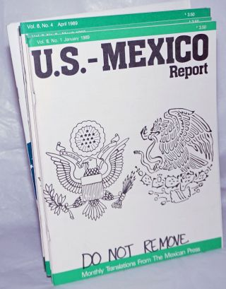 U.S.-Mexico Report 1986-1990, 41 issues New Mexico Border Commission