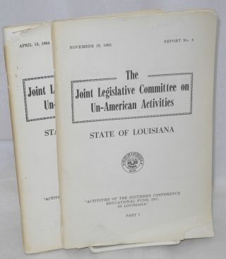 Activities of the Southern Conference Educational Fund, Inc. in Lousiana; Part 1, November 19,...