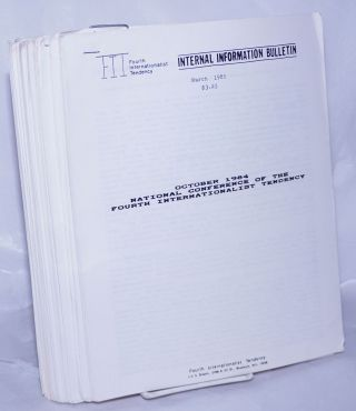 Fourth International Tendency Internal Information Bulletin, 1985-1986 23 issues