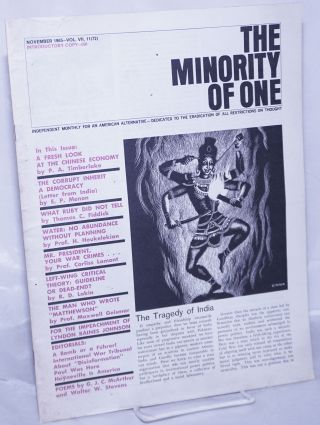 The minority of one; 1965, Nov, Vol. 7 No. 72 (whole number) independent monthly publication,...