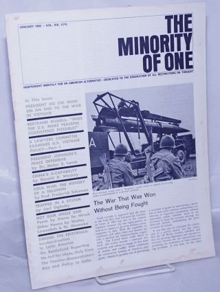 The minority of one; 1966, Jan, Vol. 8 No. 74 (whole number) independent monthly publication,...