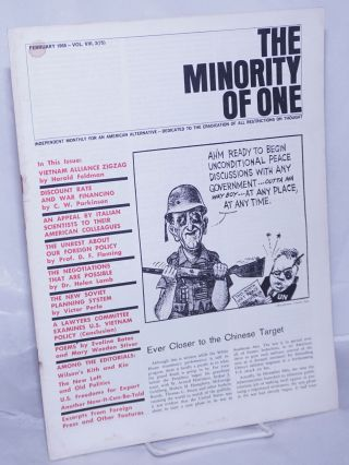 The minority of one; 1966, Feb, Vol. 8 No. 75 (whole number) independent monthly publication,...