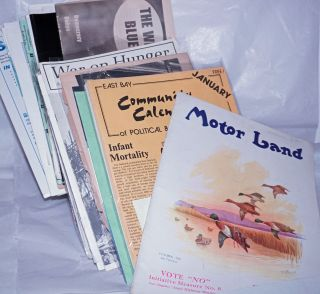 Bay Area newsletters] collected from 1920s (but mostly much later), and/or subscribed to until...