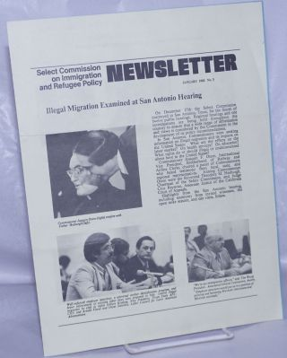 Select Commission on Immigration & Refugee Policy Newsletter: #3, January 1980: Illegal migration...