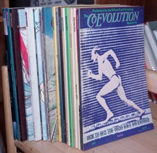 The CoEvolution Quarterly, Published by the Whole Earth Catalog ,1974-1985 incomplete run of 21 issues, Nos. 5, 7-9, 12-17, 23-25,28, 32-34,39, 42, 43.