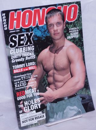 Honcho: vol. 23, #5, January 2001: Sex Clubbing. Douglas McClemont, Larry Townsend Tom of...