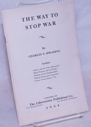 The Way to Stop War