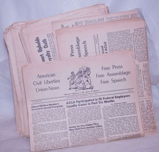 American Civil Liberties Union News, 1952-1961, 90 issues