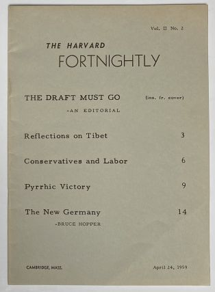 The Harvard Fortnightly. Vol. 2 no. 2 (April 24, 1959