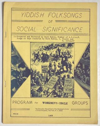 Yiddish folksongs of social significance