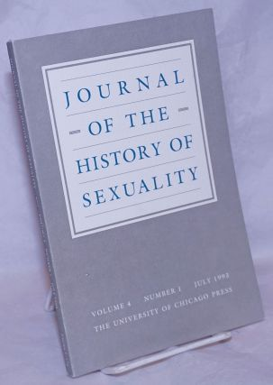 Journal of the History of Sexuality: vol. 4, #1, July 1993