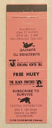 Free Huey [Black Panther Party matchbook