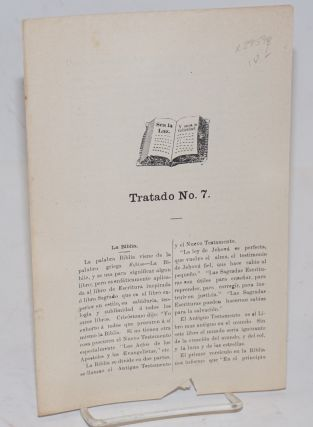 Tratado no. 7; La Biblia. Women's Christian Temperance Union