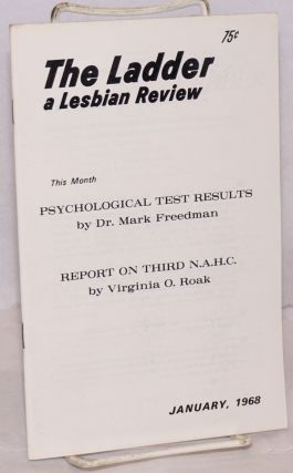 The Ladder: a lesbian review; vol. 12, #2, January 1968. Helen Sanders, Del Martin Jane Rule,...