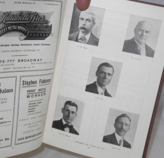 Souvenir pictorial history of Local Union no. 104, San Francisco, California, affiliated with Amalgamated Sheet Metal Workers' International Alliance and American Federation of Labor. In honor and commemoration of its twenty-five years of growth and progress.