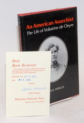 An American anarchist; the life of Voltairine de Cleyre
