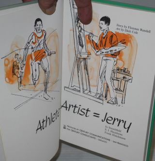 Athlete + artist = Jerry; art by Dick Cole