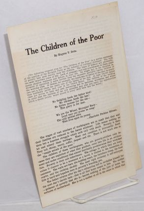 The children of the poor. Eugene Victor Debs