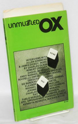 Unmuzzled Ox; vol. 3, no. 2, 1975; interviews. Michael Andre, Gregory Corso Allen Ginsberg, Larry...