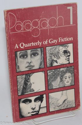 Paragraph 1; a quarterly of gay fiction. N. A. Diaman, Richard Hall Jane Alden, Stanley...