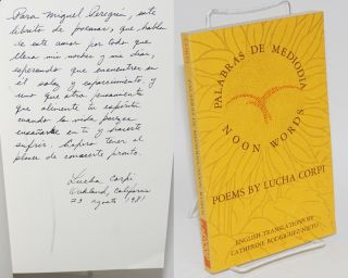 Palabras de mediodia/noon words; poems. Lucha Corpi, translated into, Catherine...
