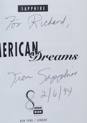 American dreams by Sapphire [pseud.]