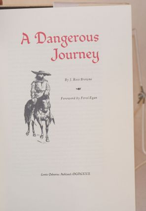 A dangerous journey; foreword by Ferol Egan