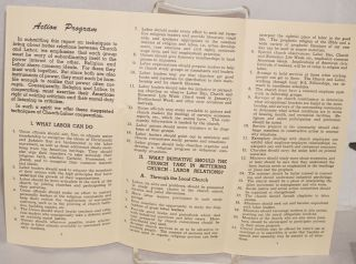 Techniques of church-labor cooperation in the local community. Report of Commission 8 made at Cincinnati Conference of the National Religion and Labor Foundation, March 30, 1949