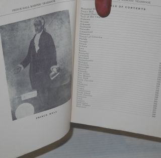 Prince Hall Masonic yearbook 1962