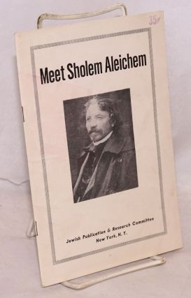 Meet Sholom Aleichem [spelling as per title page