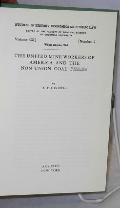 The United Mine Workers of America and the non-union coal fields