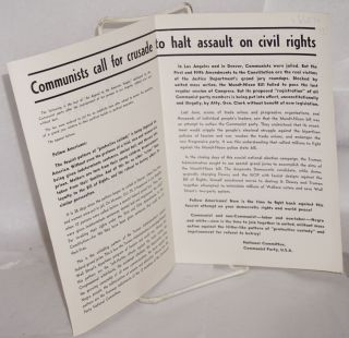 An appeal to the American people! Communists call for crusade to halt assault on civil rights. [cover title, sub-title from text]