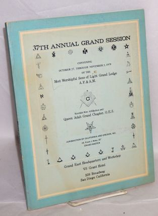 37th annual grand session; convening October 27, through November 3, 1979, Scottish Rite...