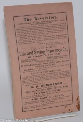 Mutual banking: showing the radical deficiency of the present circulation medium and the advantages of free currency. Sixth thousand