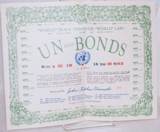 UN-American BONDS... Untied Nations dis-Organization Fabian Enslavement BONDS