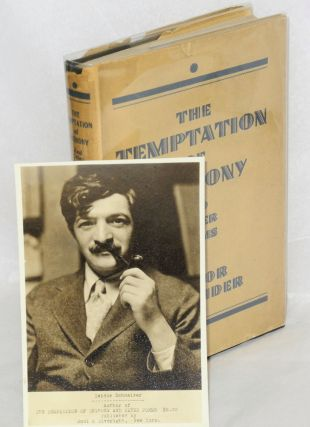 The temptation of Anthony; a novel in verse and other poems.