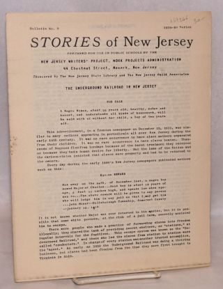 The underground railroad in New Jersey. Work Projects Administration. New Jersey Writers' Project