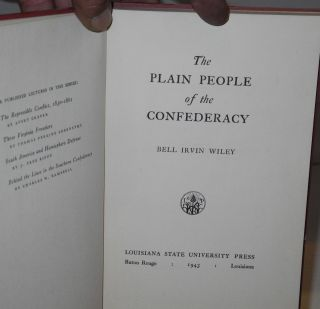 The plain people of the Confederacy