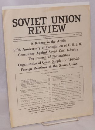 A rescue in the arctic; article in Soviet Union Review, vol. VI, no. 9. arctic