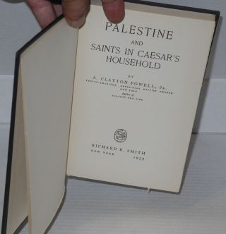 Palestine and saints in Caesar's household