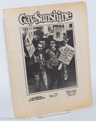 Gay Sunshine; a newspaper of gay liberation, #11 February-March 1972: Gays zap S.I.R. Winston...