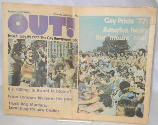Out! The gay newspaper [formerly Newswest] issue 1, July 29, 1977