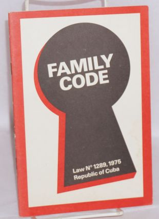 Family Code Law no. 1289, 1975, Republic of Cuba