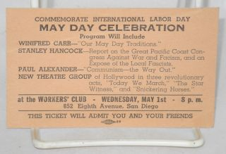 Commemorate International Labor Day May Day celebration