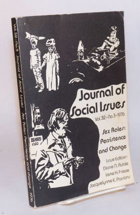 Sex roles: persistence and change, in The journal of social issues, 1976, vol. 32, no. 3: Asian...