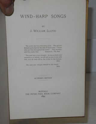 Wind-harp songs. Author's edition