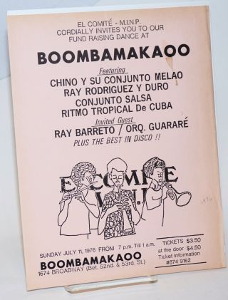 Rl Comite - M.I.N.P. cordially invites you to our fund raising dance at Boombamakaoo [handbill]...