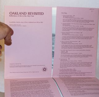 Oakland revisited a portfolio of twelve views of life in Oakland from 1870 to 1930, edited by...