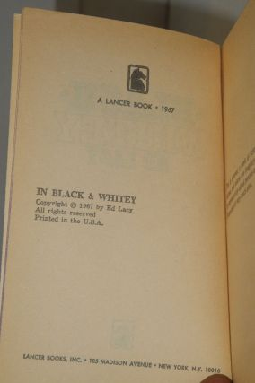 In Black & Whitey, by Ed Lacy [pseud.]